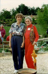 1996 France_Charlene Strawn (L) Maggie Belle Slocum (R)