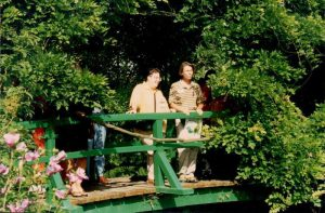 1996 Susan Davis(L) Deb Spencer (R) at Giverny
