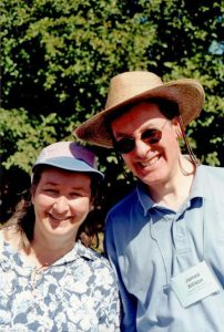 2002 Oregon_Paula Biles & James Allison at Hughes Water Gardens