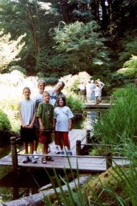 2002 Oregon_The Folsoms at the Japanese Garden