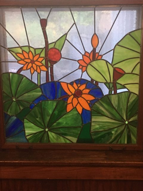 Board Susan Lotus Stained Glass Window
